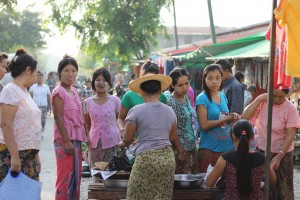 Ladies at the local market in Kalaymyo